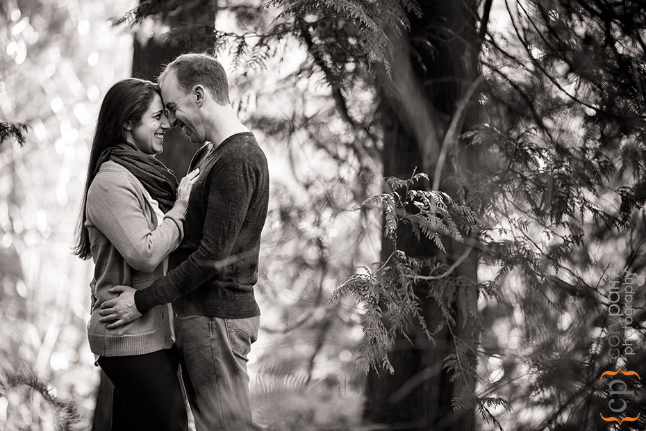 engagement portrait at Carkeek