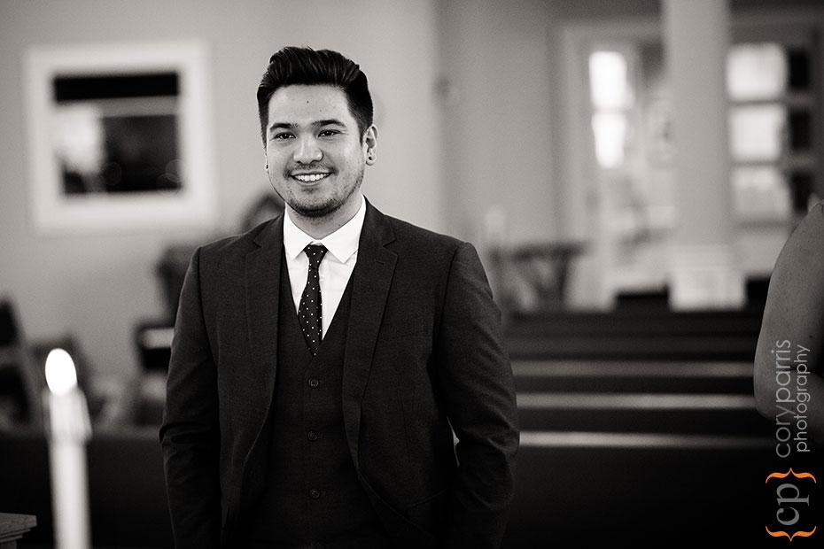 portrait in church