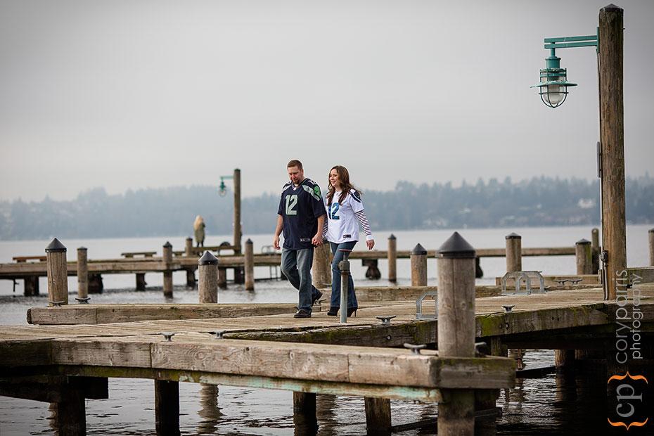 seahawk engagement portraits