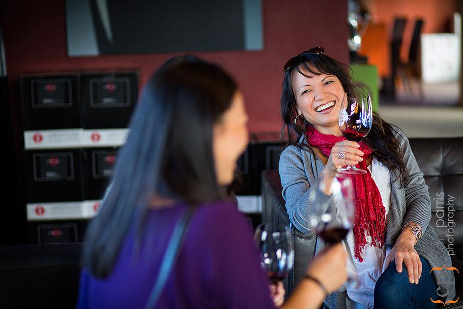 women tasting wine at j bookwalter