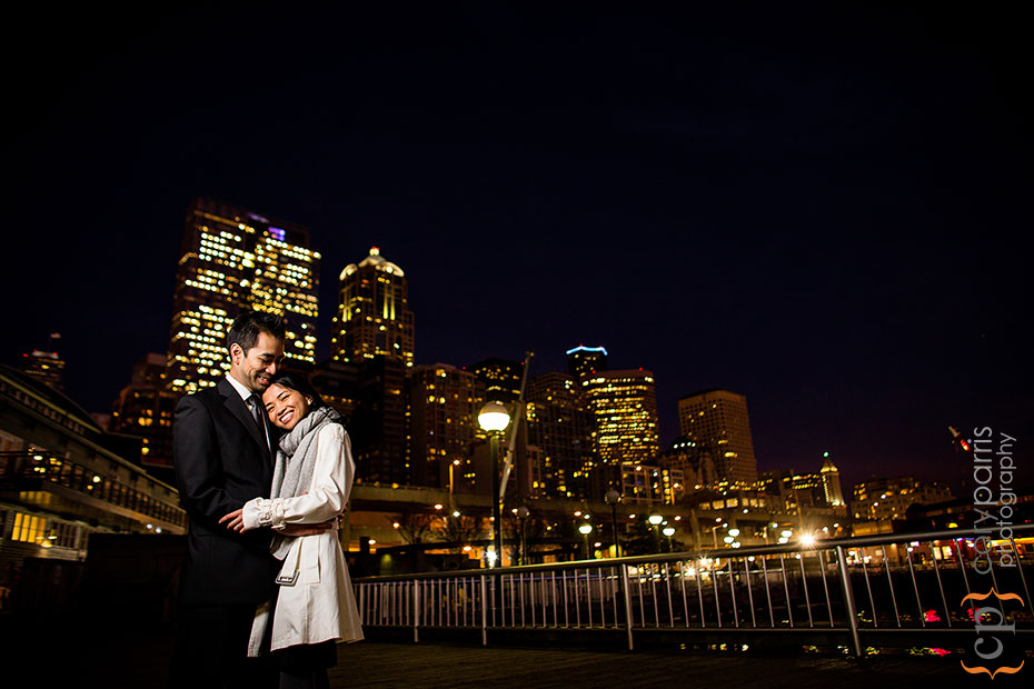 night portrait in Seattle