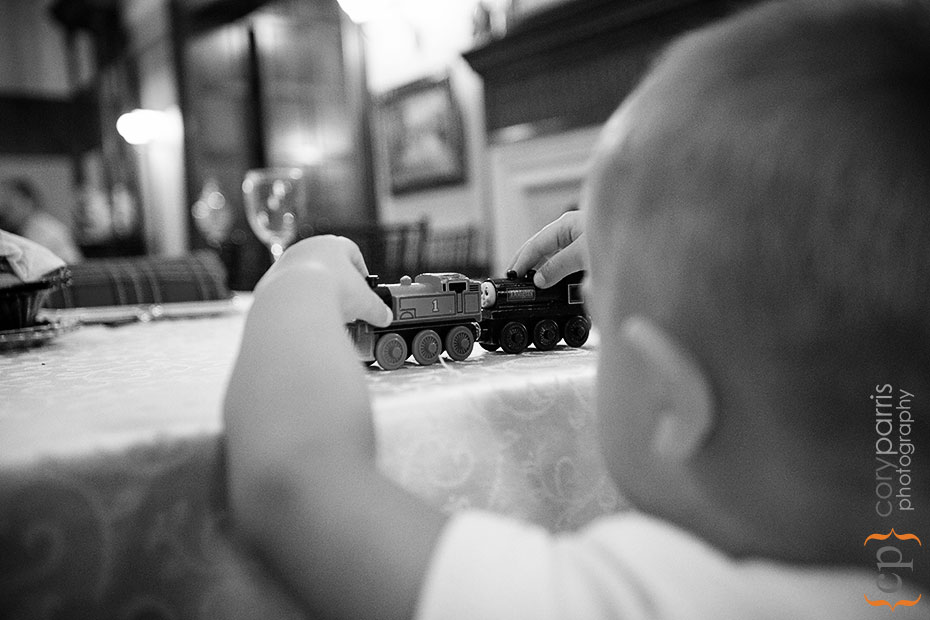 Little boy and a train