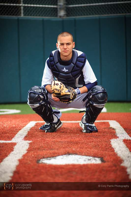 Catcher Senior Portrait