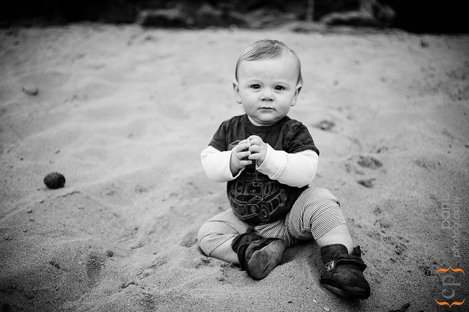 baby boy in the sand
