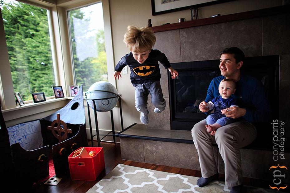 little kid jumping portrait seattle