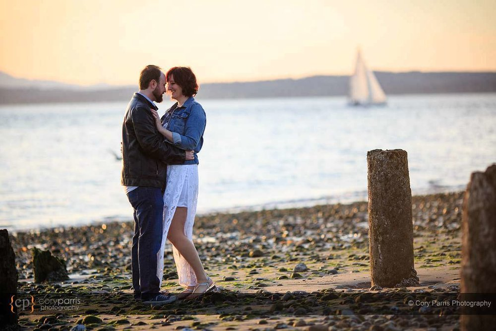 Golden Gardens engagement portraits