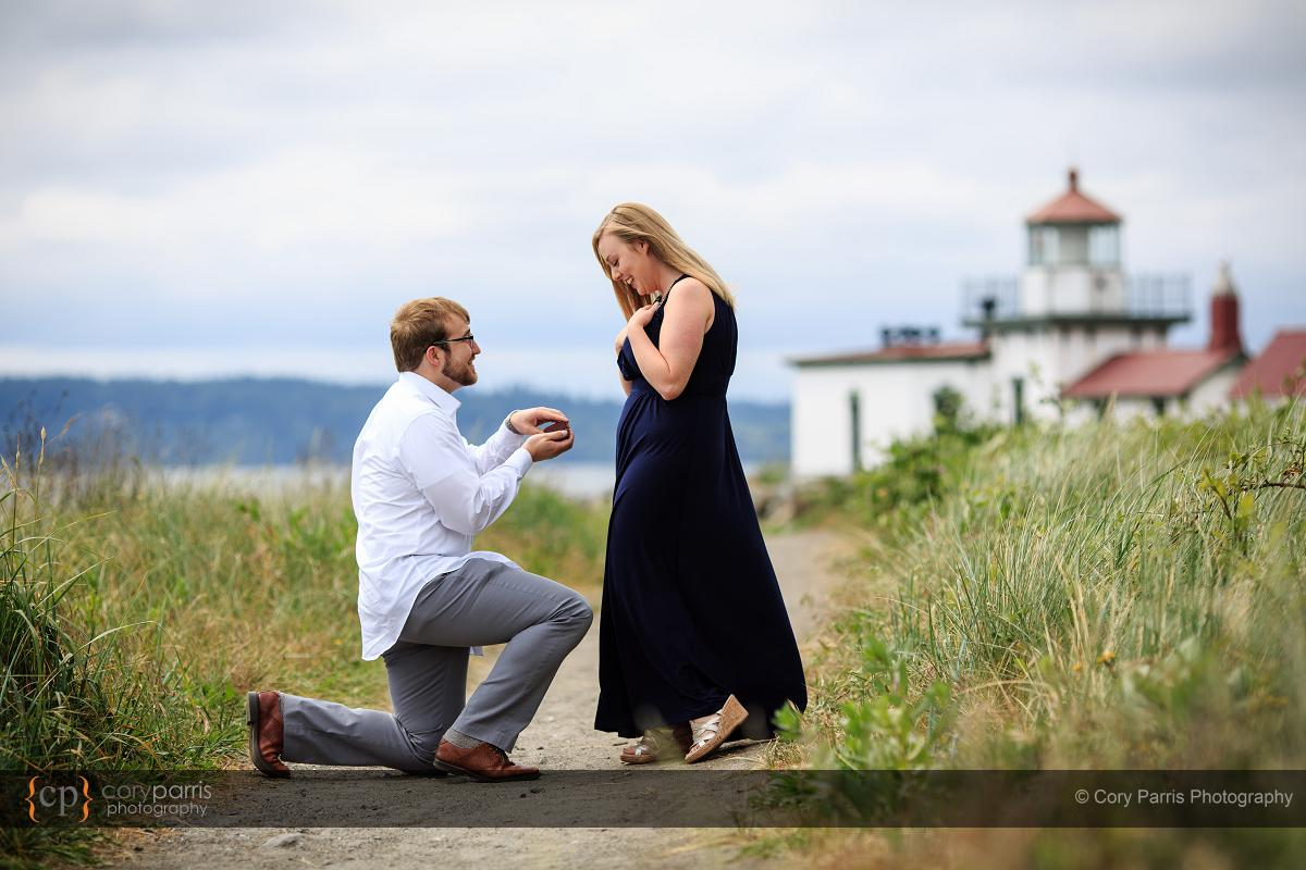 Seattle wedding proposal