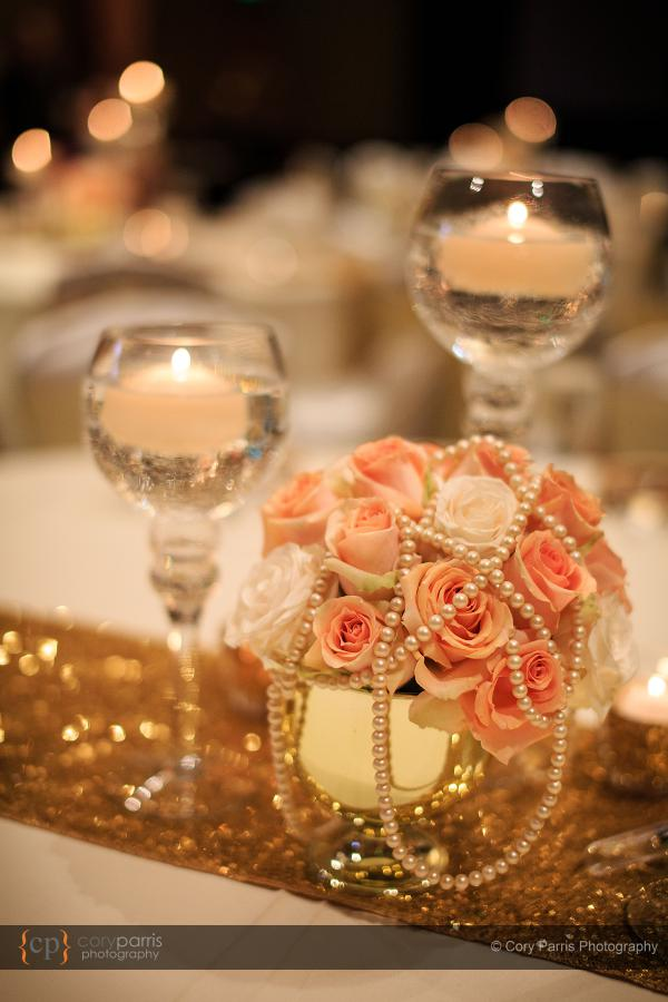 Hyatt Bellevue wedding reception