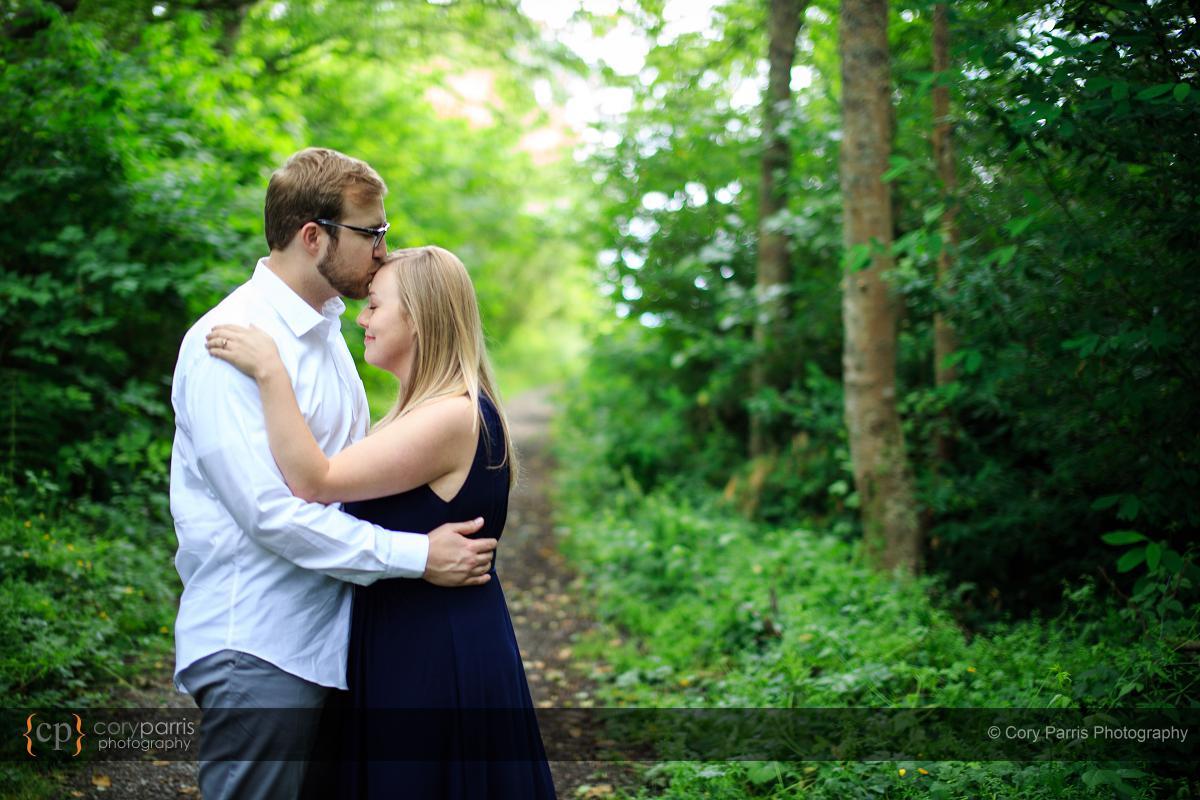 Discovery Park engagement portrait