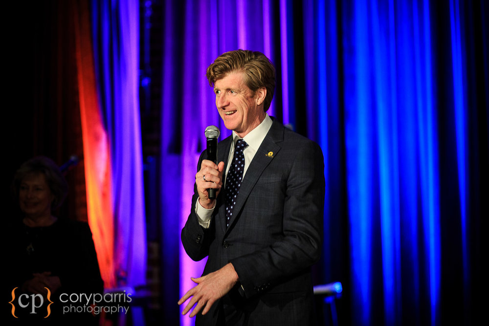 Patrick Kennedy speaking at the One Mind fundraiser at the Palace Ballroom