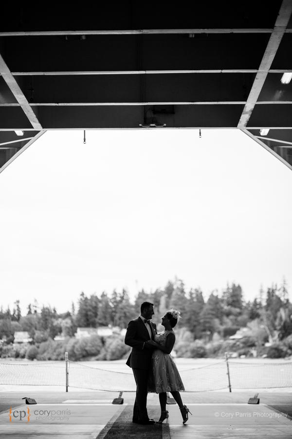 seattle ferry wedding portrait
