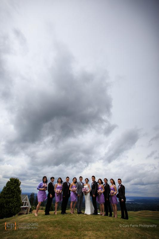 bridal party portrait newcastle wedding