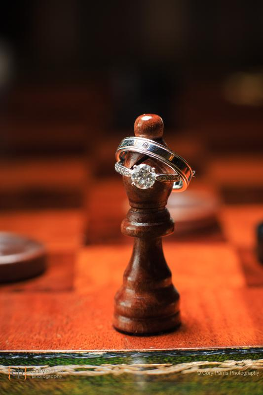 wedding rings chess set