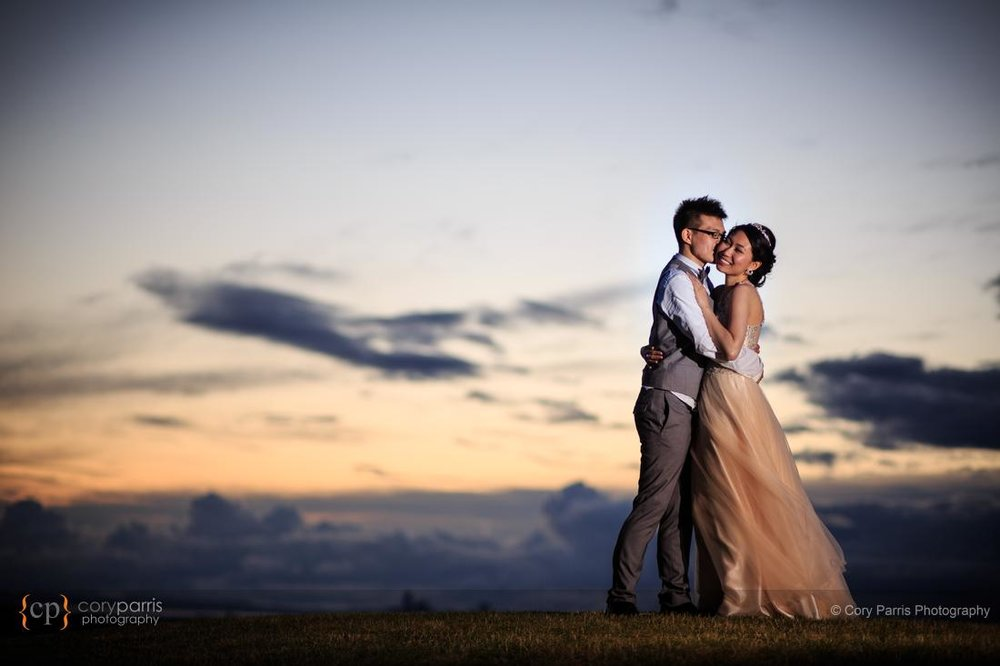 Sunset Newcastle wedding