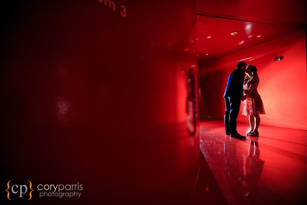 seattle public library wedding portrait