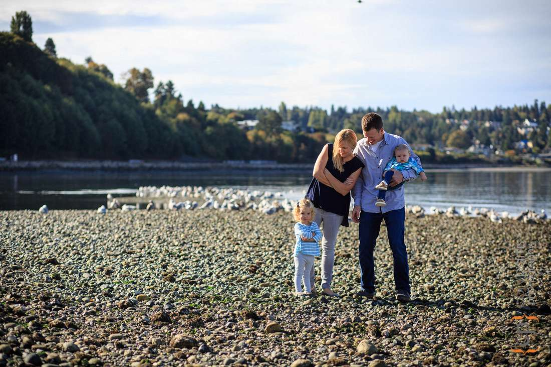Carkeek Park family portraits in Seattle