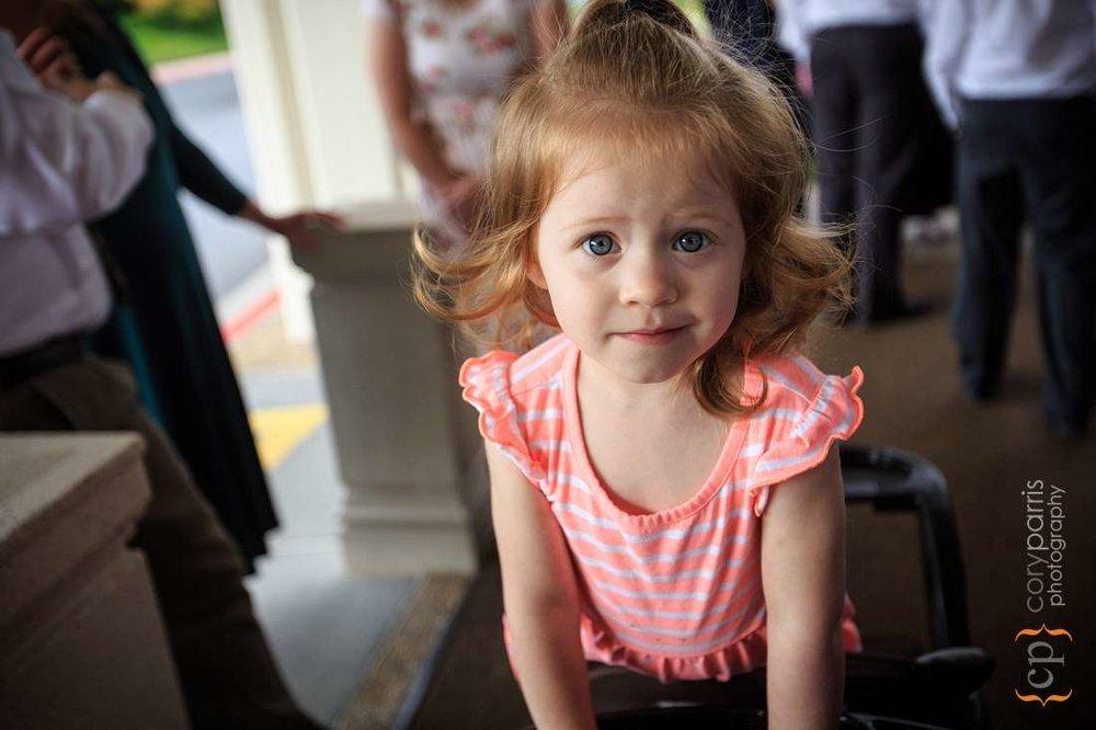 Cute red head little girl