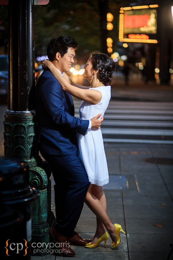 downtown seattle wedding portrait