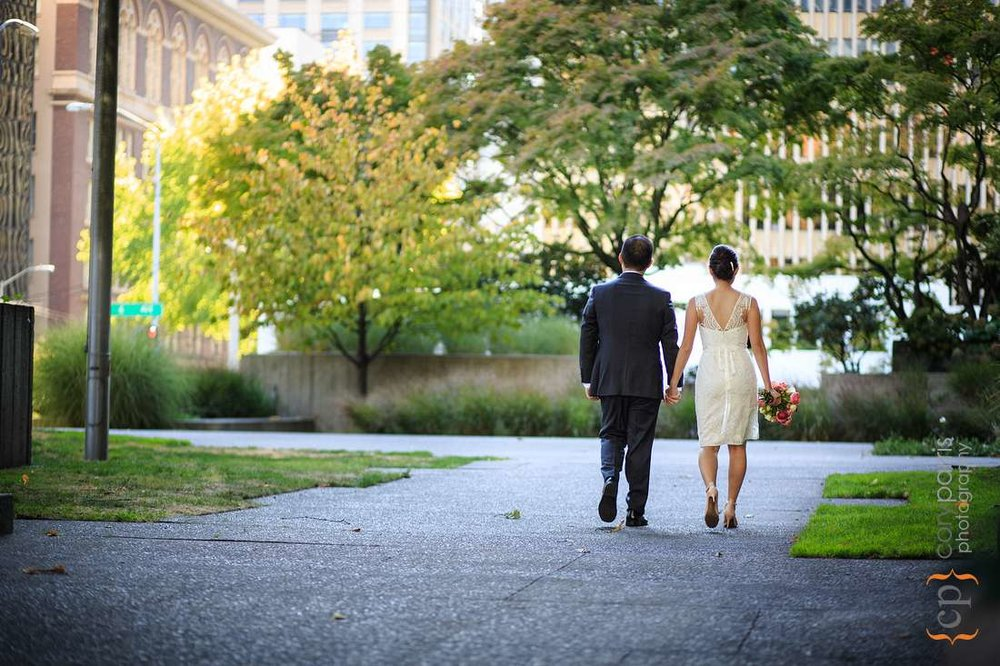 Freeway Park wedding photography Seattle