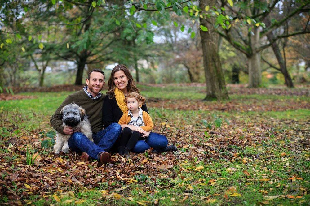 Family portraits at Seattle Arboretum