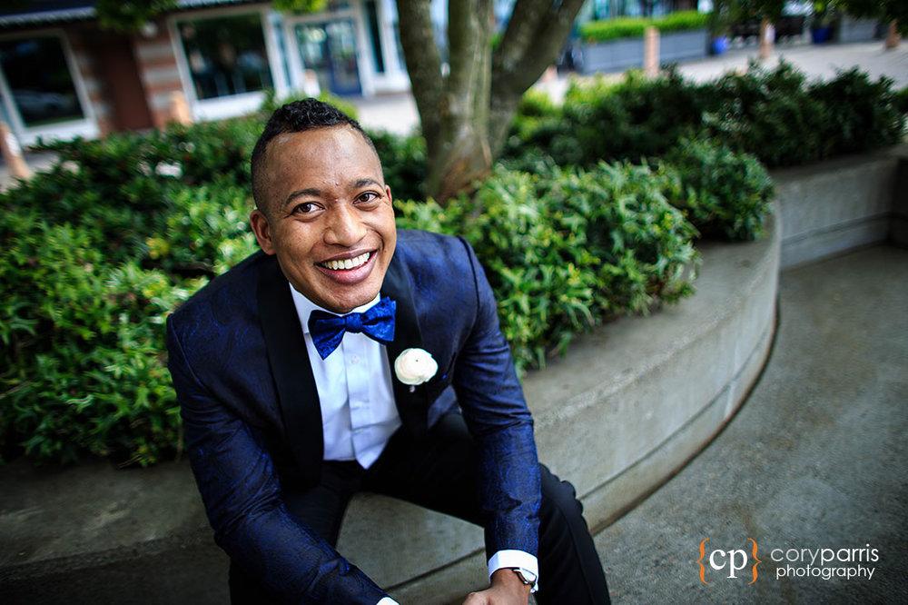 Groom portrait at Kirkland wedding