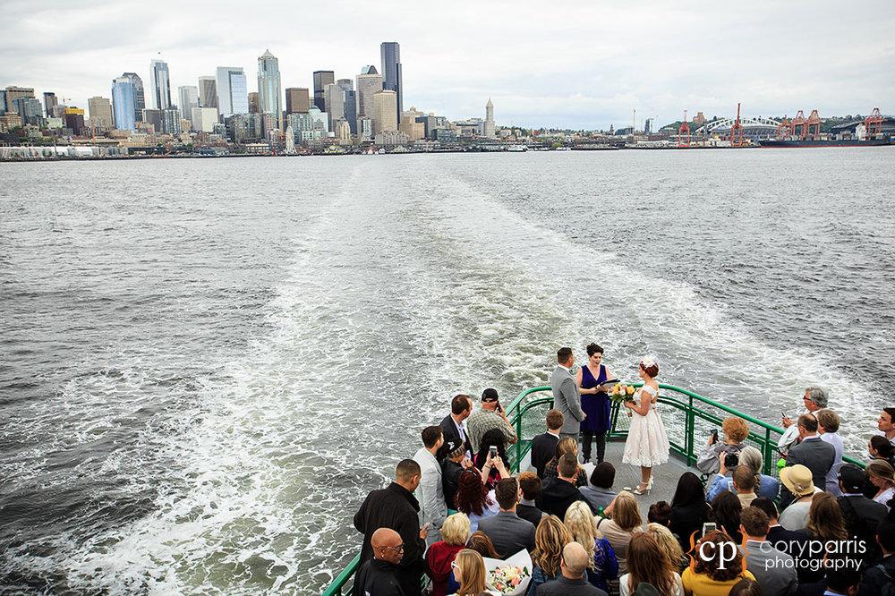 Ferry wedding in Seattle