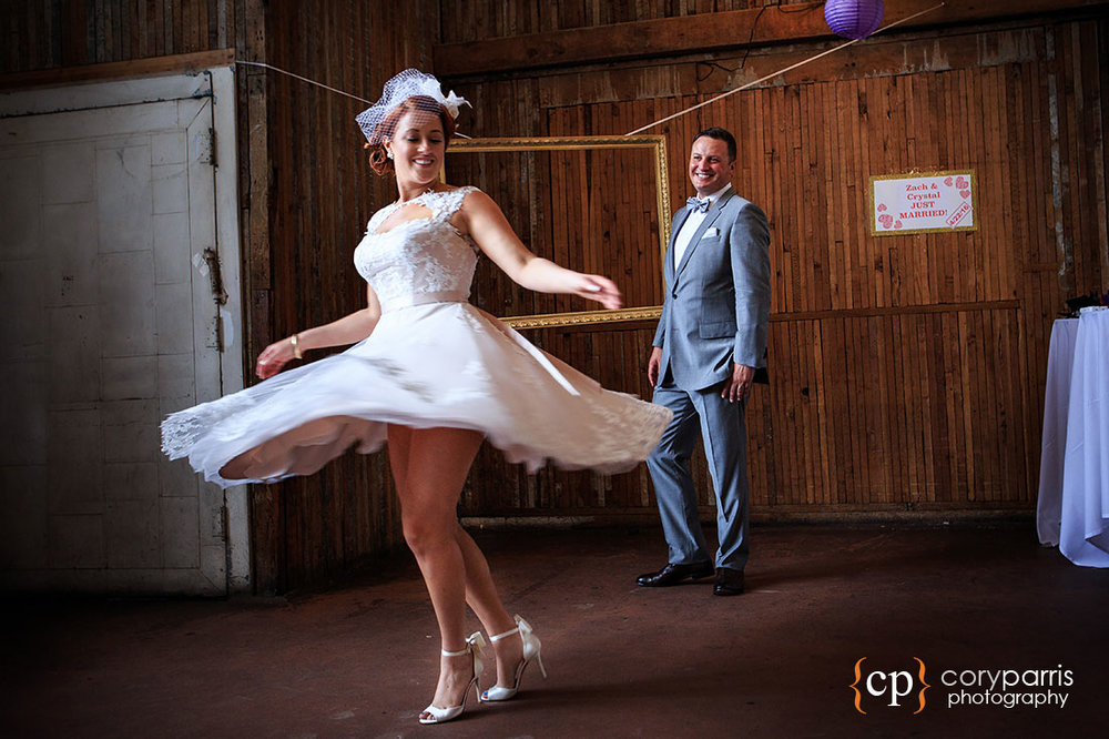 Wedding dress spin!