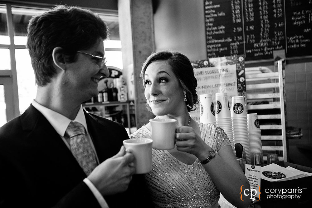 Coffee cup wedding