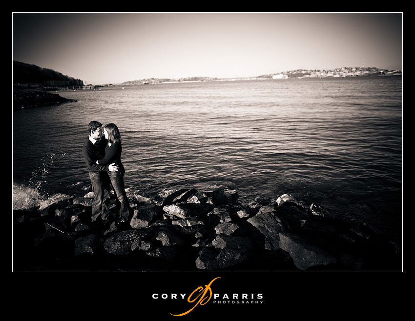 Engagement Portraits at Alki near Salty's
