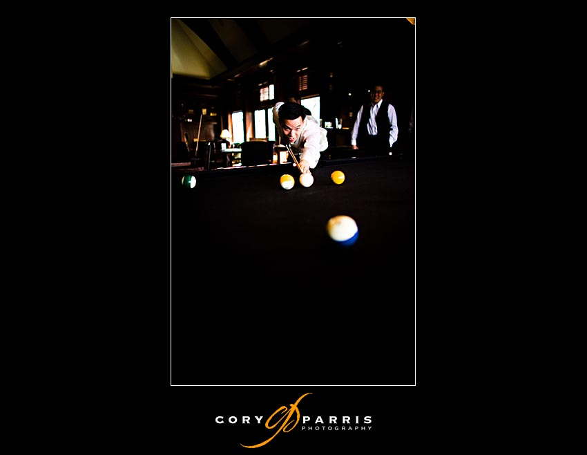 groom playing pool at newcastle golf club