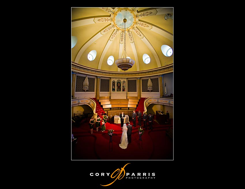 First Covenant Church wedding in seattle as photographed by seattle wedding photographer Cory Parris