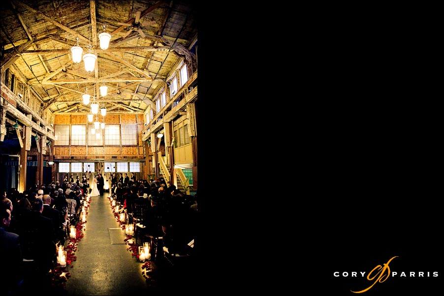 The interior of SODO Park during the wedding in Seattle