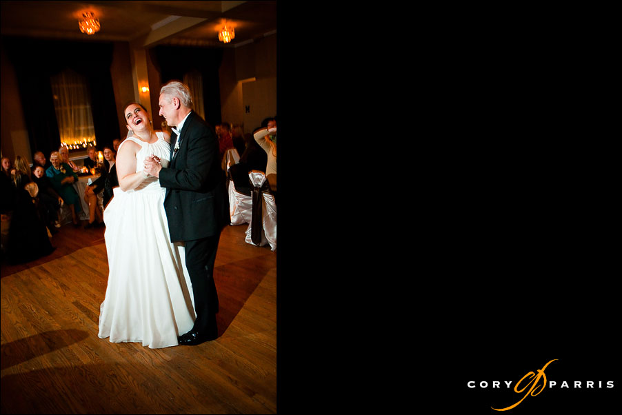 bride dancing with her father by seattle wedding photographer cory parris