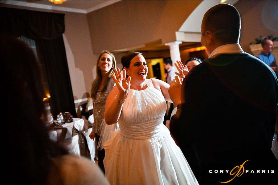 bride laughing during the dancing