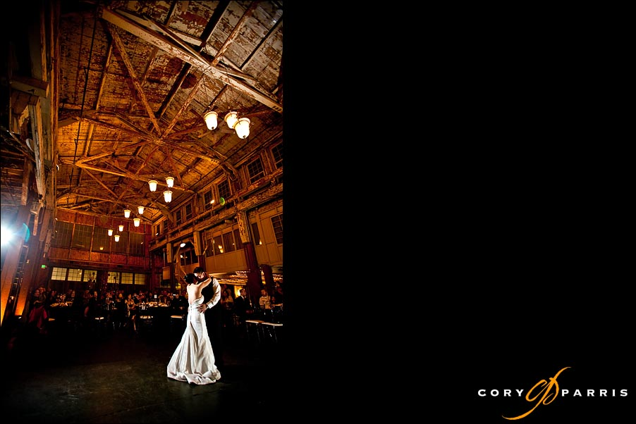 First dance images by seattle wedding photographer cory parris at sodo park