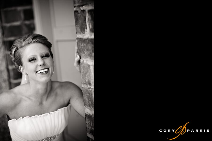 bride laughing in black and white image by seattle wedding photographers cory paris