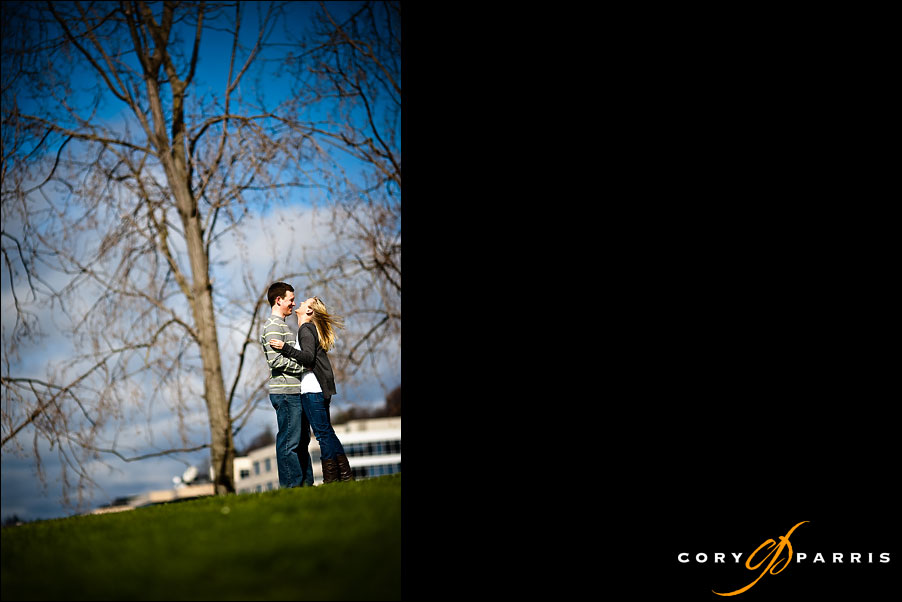 couple dancing at a park on the seattle waterfront by seattle photographer cory parris
