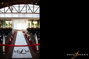 the wedding setup at the spirit of washington event center
