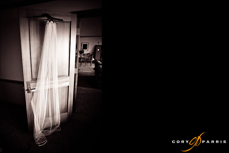 veil hanging on the door of a suite at semiahmoo