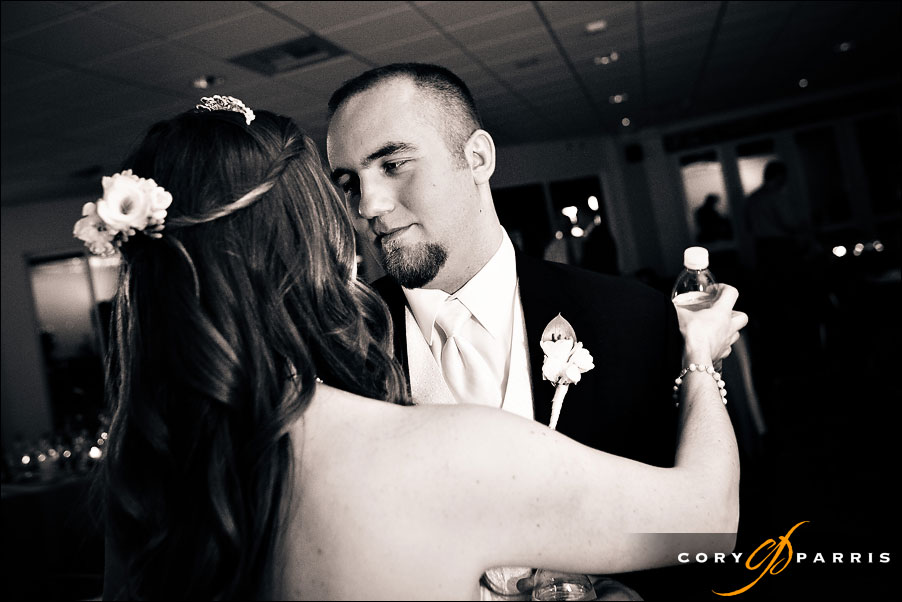 bride and groom dancing at edmonds yacht club by seattle wedding photojournalist cory parris