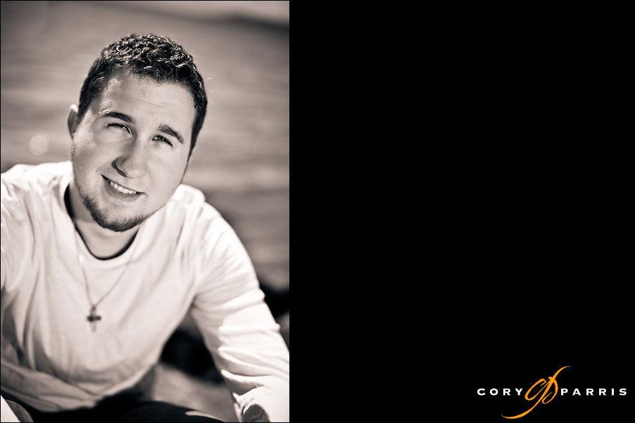 senior portrait of a boy at the edmonds waterfront by seattle portrait photographer cory parris
