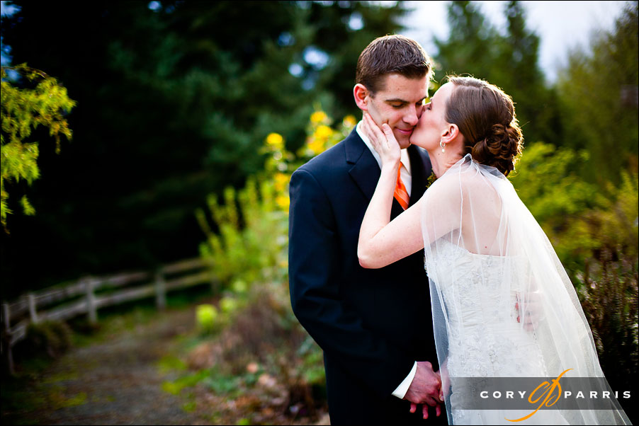 portrait of the bride and groom by seattle wedding photographer cory parris