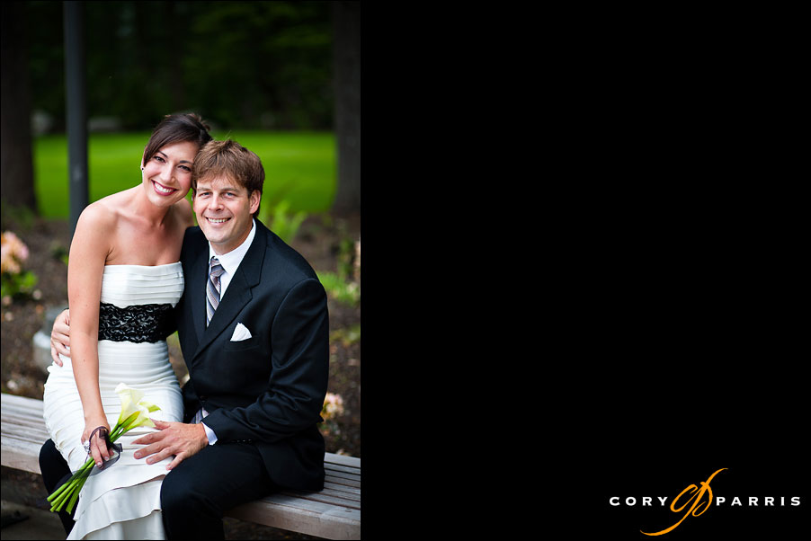 wedding couple by seattle wedding photographer cory parris