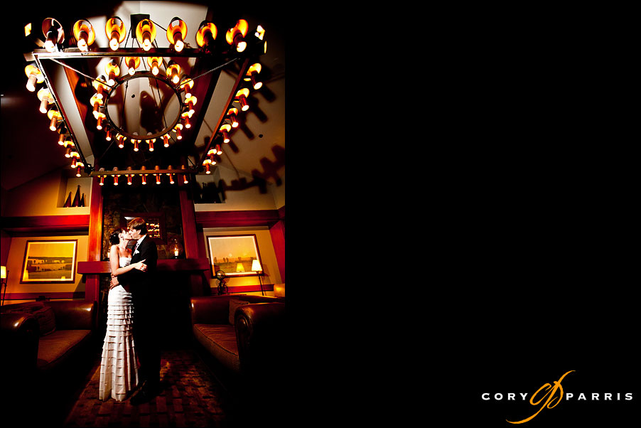 indoor portrait in the library at salish lodge by seattle wedding photographer cory parris