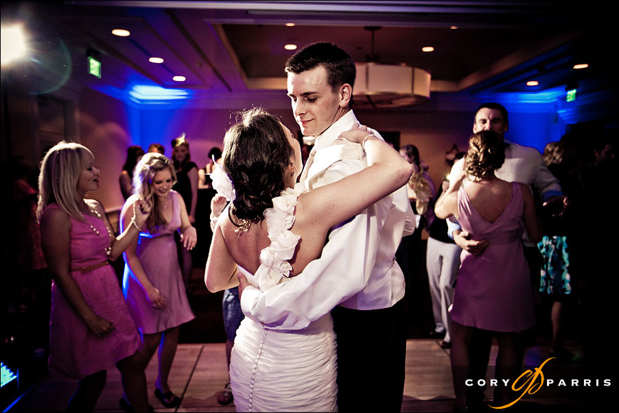 bride and groom during the dancing at the woodmark hotel in seattle