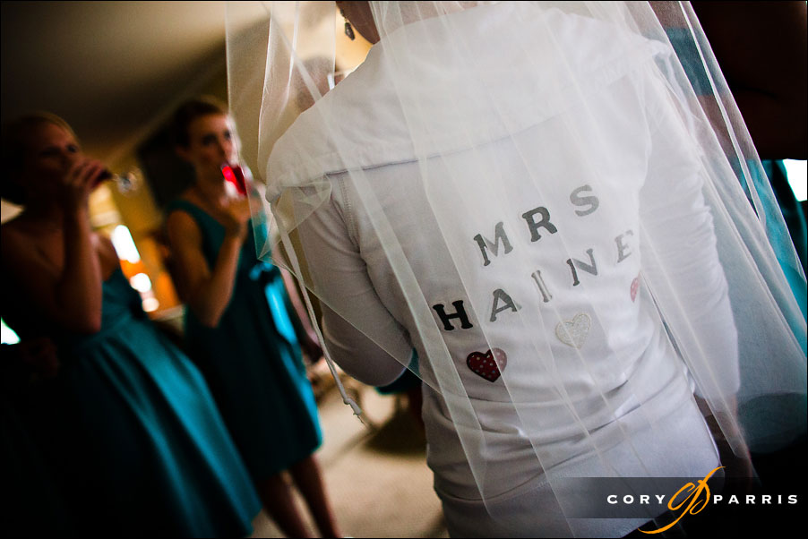 mrs sweatshirt before the bride gets ready by seattle wedding photojournalist cory parris