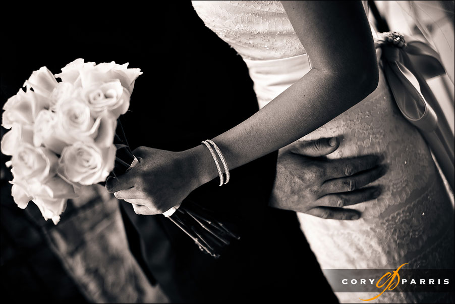 detail of the bride and groom by seattle wedding photographer cory parris