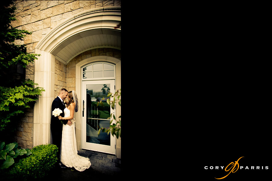 bride and groom portrait at the newcastle golf club