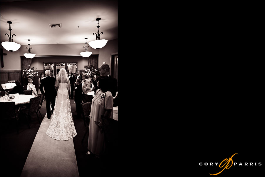 bride walking down the aisle with her father by cory parris, wedding photojournalist in seattle