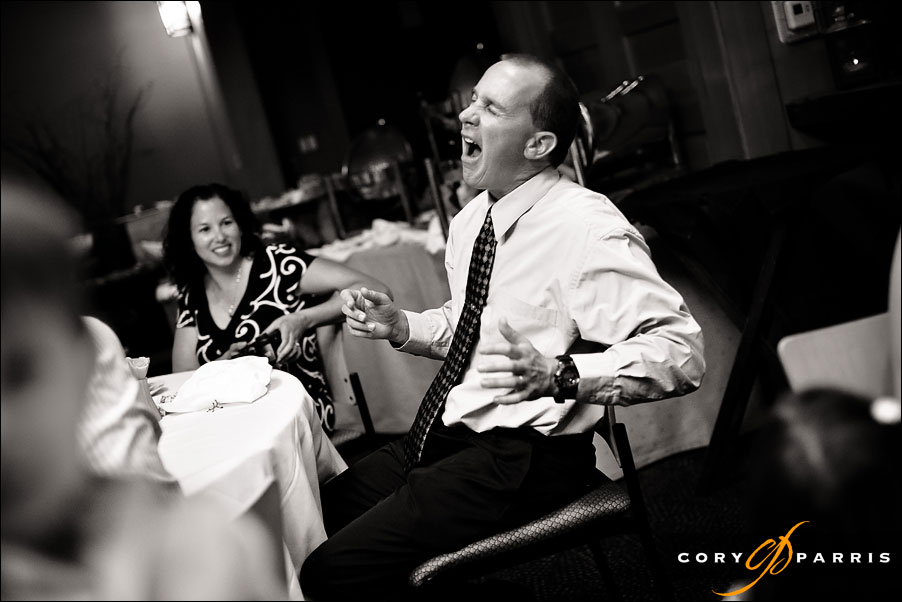 photo of a wedding guest at willows lodge in woodinville by seattle wedding photojournalist cory parris